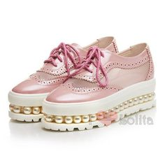 Home from lolita store Kawaii Shoes, Stella Mccartney Elyse, Brogues, Platform Shoes, Timberland Boots, Womens Flats, Casual Shoes, Wedges, Pearl
