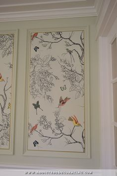 Hand Drawn Birds & Butterflies Mural