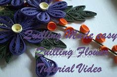 DIY Craft Ideas-How to make Beautiful Quilling blue white Flower New des...