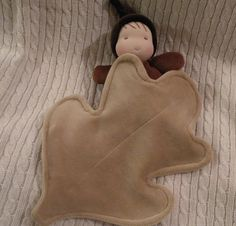 waldorf dollacorn baby with leaf blankie by auntboosbabies on Etsy, $28.00