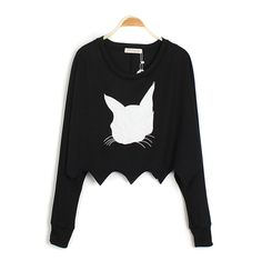 Western Style Cute Cat Pattern Long Sleeve Ladies T-Shirt Cat Pattern, Tshirts Online, Get The Look, Western Style, T Shirts For Women, Crop Tops, Sweatshirts, Lady, Long Sleeve