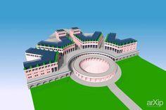международный юношеский лагерь: архитектура, 3 эт   9м, неоклассика, 1000 - 3000 м2, здание, строение, фасад - камень, градостроительство #architecture #3floors_9m #neoclassicism #1000_3000m2 #highrisebuilding #structure #facade_stone #townplanning arXip.com