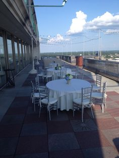 Outdoor terrace! #wedding #reception #seating