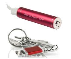 Mobil lader og USB sticks