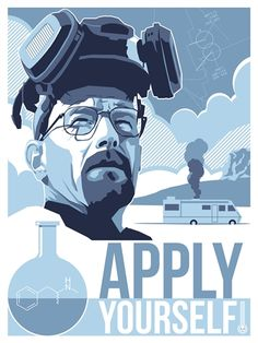 'Apply Yourself' Breaking Bad Movie Poster