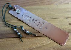 We Read To Know Copper Stamped Metal Bookmark by FHGoldDesigns
