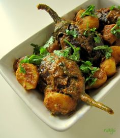 Gujarati style eggplant ravaya - I hope this is good - I loved my mom's version...