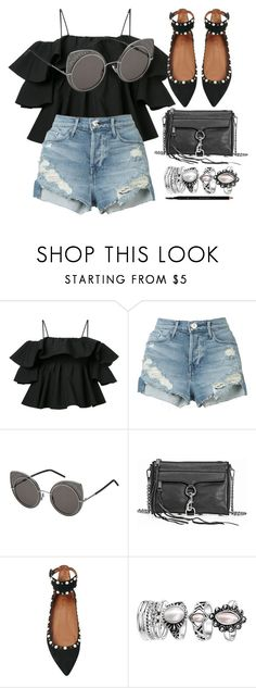 """""""Another"""" by smartbuyglasses ❤ liked on Polyvore featuring MSGM, 3x1, Marc Jacobs, Rebecca Minkoff, Aquazzura, Gucci and black"""