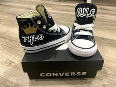 Prince ONE custom converse | Etsy 1st Birthday Party Themes, Custom Converse, Fresh Prince, Vans, Sneakers, Colors, Shoes, Black, Etsy