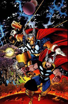 Thor and Beta Ray Bill by Walt Simonson