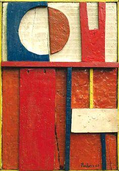"""""""Constructivo"""" by Manuel Pailos, 1962.  Uruguay.  Wood."""