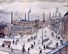 Αυτός ο πίνακας  ειναι ένα έργο του L. S. Lowry. Δημιοργήθηκε το 1965 και ονομαζεται Huddersfield. Σε αυτόν μπορούμε να διακρίνουμε τα μεγάλα εργοστάσια και τις αποικίες που ήταν σχημάτισμενες γύρω απο αυτά. Επίσης βλεπουμε πολλούς ανθρώπους να πηγαίνουν γρήγορα στις δουλειές τους. Αναφέρεται στην βιομηχανική επανάσταση στα μέσα του 19ου αιώνα και ο χώρος που διαδραματίζεται είναι σε μια πόλη στην Αγγλία.