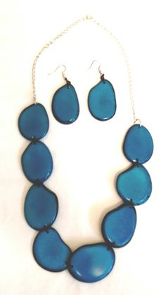 and products tagua radianceblue necklace set adora earrings