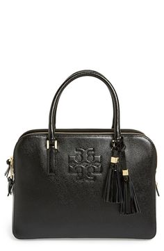 Tory Burch Thea Patent Leather Triple Zip Satchel