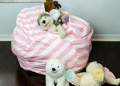 Bean Bag Chair with toy storage