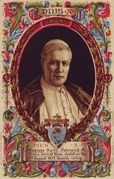 Pope Pius X, whose name previously was Joseph Sarto, was born in the village of Riese in the Venetian province, to humble parents remarkable for their godliness and piety. Description from orandi1.rssing.com. I searched for this on bing.com/images