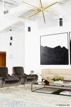 """The Striking MyDomaine Office in LA 