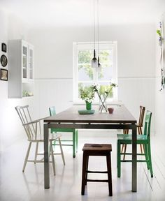 Simple room with eclectic chairs