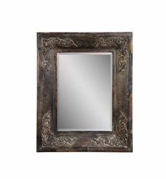 Haversham Old World Wood Rectangle Wall Mirror