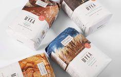 """Flour """"Ryazanochka"""" rebranding on Behance Sugar Packaging, Cool Packaging, Chocolate Packaging, Food Packaging Design, Packaging Design Inspiration, Branding Design, Product Packaging, Rustic Comforter, Creative Food"""
