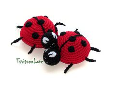 Childrens toy  Ladybug 1 pcs  Safe for the game  by TsvitanaLove