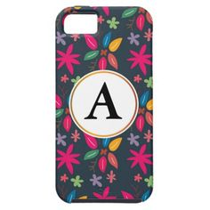 doodle leaves phone case iPhone 5 case