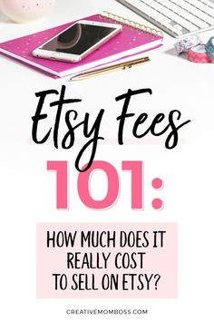 Confused about Etsy fees? Check this out to hear the step by step simplified breakdown of what you're actually paying to use Etsy and how much of your sales they'll take for fees. Etsy Business, Craft Business, Creative Business, Online Business, Make Money Blogging, Make Money Online, How To Make Money, Money Today, Business Planning