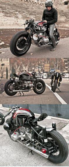 BMW R90S built by Sébastien Beaupère on a R50 frame. http://www.inazumacafe.com/2013/04/r90s-renn-pfeil-2.html