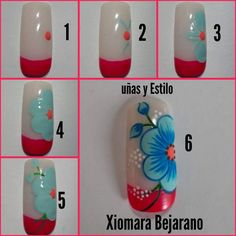 Invierte tiempo en ti!! Gel Nail Art, Nail Art Diy, Nail Manicure, Diy Nails, Nail Art Designs Videos, Nail Art Videos, Fall Nail Designs, Tulip Nails, Belle Nails