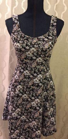 Lauren Conrad LC Floral V-Neck Fit & Flare Dress Womens Size Small (S) Kohls #LAURENCONRAD #Casual