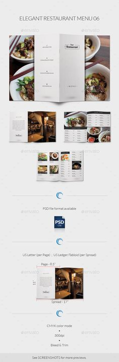 fb4ecee880c5 Elegant Restaurant Menu Template  design  speisekarte Download   http   graphicriver.