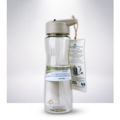Keep hydrated on the go with ProPur's water bottle with filter that gets rid of 99.9% of girdia and cryptosporidium, along with removing odors. And when you want the convenience of easy-to-clean plastic water bottles, use this dishwasher-safe sport bottle. #ProPur