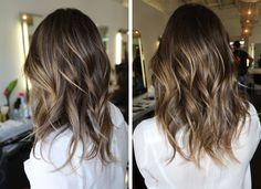 Subtle brunette highlights cute haircut too