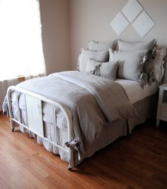 Queen Size ShamOlive Linen Bedding Collection by RubyandStellaHome, $35.00
