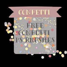 free confetti photoshop brushes