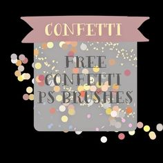 free confetti photoshop brushes
