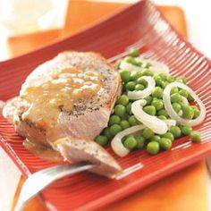 Simple Italian Pork Chops - perfect with homemade italian dressing and boneless sirloin chops