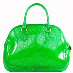Green Glitter Jelly Tote