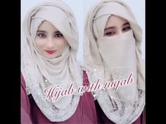 This is my new tutorial with niqab and without niqab. It is very easy to wear yet very stylish. Please comments me which kind of hijab, niqab tutorial u want. Hijab Fashion Summer, Niqab Fashion, Street Hijab Fashion, Niqab Style, Hijab Dpz, Hijab Style Tutorial, Paige Wwe, Turban Hijab, Hijabs