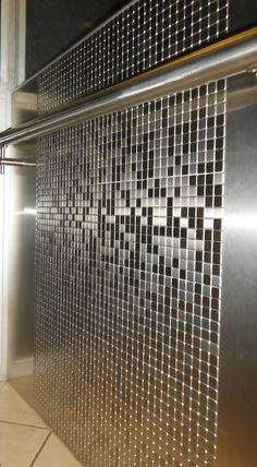 Barandal de Construinox. Mosaico tipo color acero Dsp Mexico