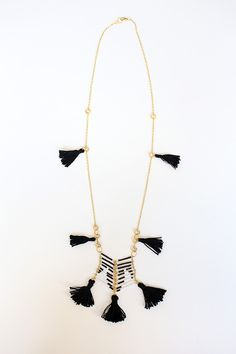 DIY Anthropologie Beaded Tassel Necklace by Chic Steals