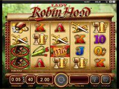 """Lady Robin Hood - Lady Robin Hood er en høy-kvalitet, høyt-oppløsende spilleautomat brakt til deg fra Bally Technologies. Denne spilleautomaten låner mye fra den klassiske historien om Robin Hood med""""wilds"""",""""scatter"""",""""free spins""""og multiplisering."""