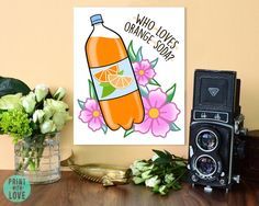Who Loves Orange Soda? Kenan and Kel Nickelodeon Quote TV Digital Painting Tattoo Style Print Wer liebt Orangenlimonade? 1990s Nickelodeon, Kenan And Kel, Tattoo Style, Orange Soda, Cartoon Tattoos, Painting Tattoo, 90s Cartoons, Pastel Flowers, Pottery Painting