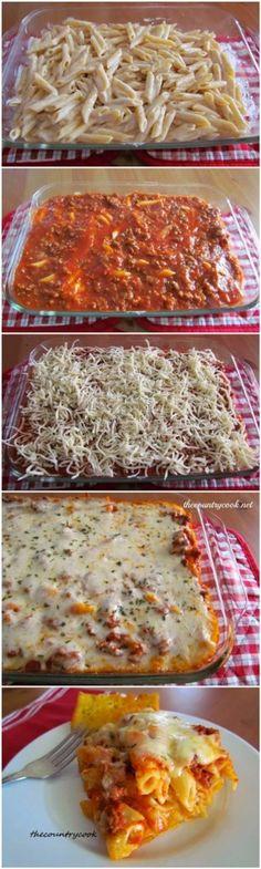 Easy Baked Ziti - Use Gluten Free Pasta