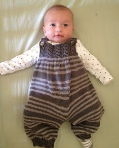 Ravelry: Baby Overalls with detailed cabled bodice and matching sweater P037 pattern by OGE Knitwear Designs - pattern $5