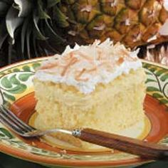 "Hawaiian Wedding Cake Recipe -""I got this wonderful recipe from a cousin whose husband was Hawaiian,"" notes JoAnn Desmond from Madison Heights, Virginia. ""I've changed it some to reduce the fat and calories, but it still tastes as rich as the original. It's very simple to make...and guests will love it. Enjoy!"""