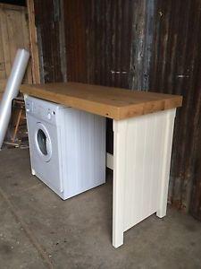 Rustic-Pine-Double-Appliance-Gap-Housing-Dryer-Washing-Machine-Dishwasher-Cover