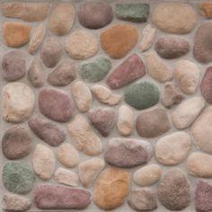 Cast Natural Stone 10 Sq. Ft. Northwoods River Rock at Menards®
