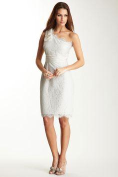 Eliza J  Shoulder Bow Lace Sheath Dress  $178.00