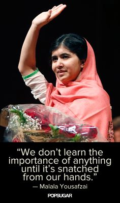 Inspiring words from 16-year-old Taliban survivor Malala Yousafzai